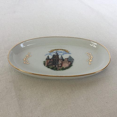 フランス ヴィンテージ リモージュ 土産物用 金彩 陶磁器トレー 小物入れ