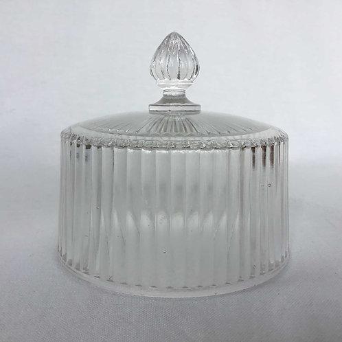 フランス  アンティーク ガラスのクロッシュ(鐘) チーズ ケーキ ドーム カバー ケース 直径14cm
