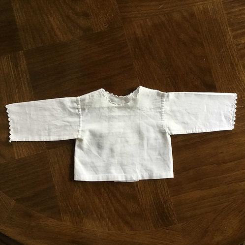 (ドール/ベビー用) フランス アンティークコットン ブラウス スカラップ刺繍