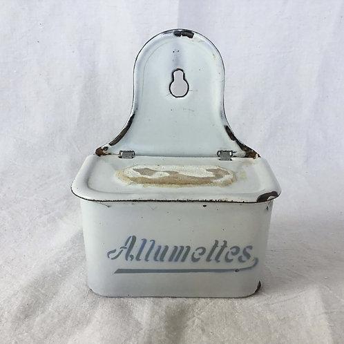 フランスアンティーク ホーロー アリュメット缶 マッチ入れ (送料無料)