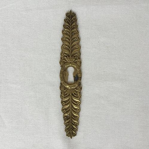 フランスアンティーク 真鍮 鍵穴ドアプレート ドア飾り 1枚のみ
