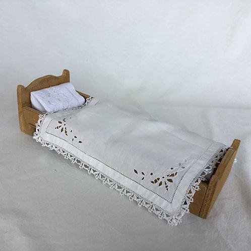 フランス アンティーク ドール 人形用 ベッド 木製