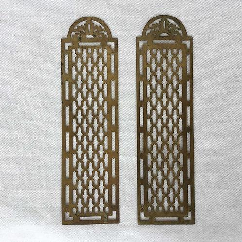 フランスアンティーク 真鍮ドアプレート フィンガープレートドア飾り 2枚セット