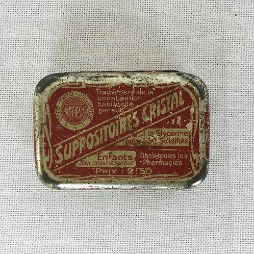 フランス アンティーク ブリキ缶 CRISTAL クリスタル ティン缶