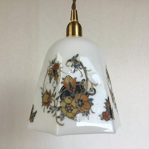 イギリス アンティーク ランプシェード 六角形 ガラス (シェードのみ) (送料無料)