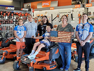 Orland Elite Wrestling, Orland Saw and Mower