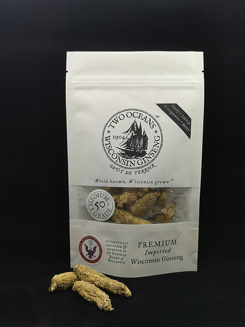Medium American-Wisconsin Ginseng (whole root) 50g