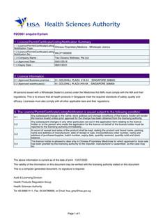 HSA Wholesale License