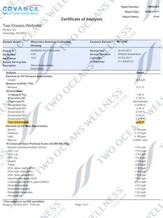 Certificate of Analysis (COA)