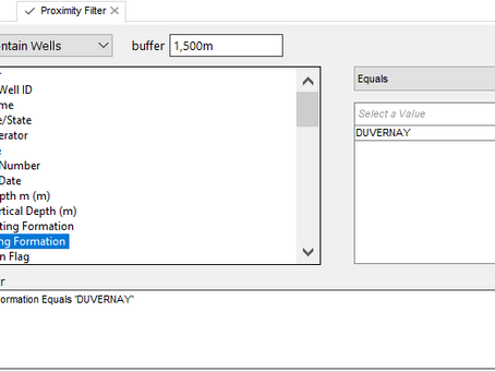 New Proximity Filter available