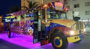 Chiva colombiana en miami, chiva party bus