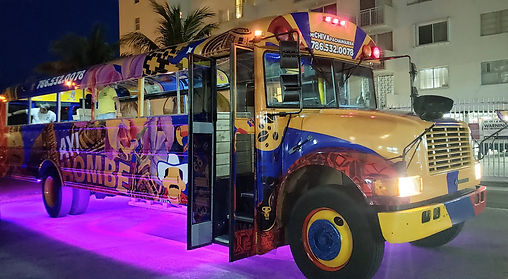 Chiva colombiana en miami, chiva party bus