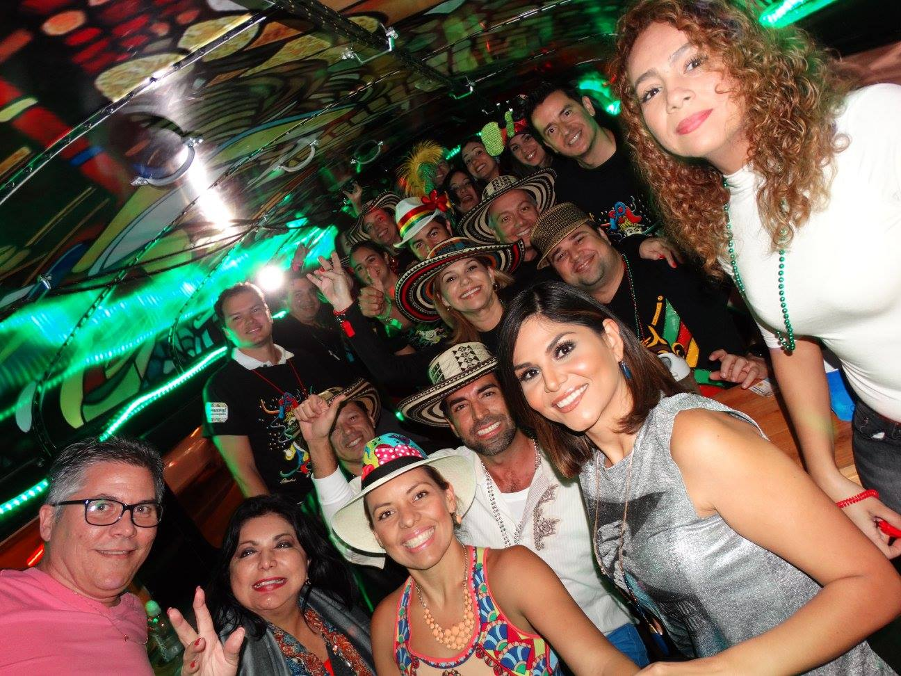 colombian party bus