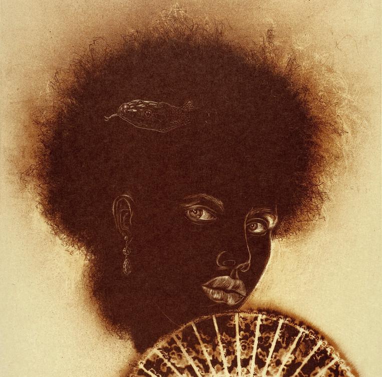 Marie Laveau, 2009. Color lithograph.