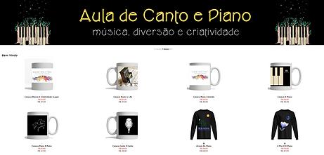 Camisas e Canecas de Música