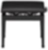 Banco Para Piano Casio Cb-30bk Com Regulagem - Preto