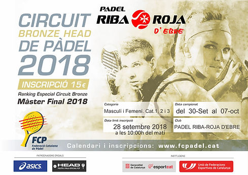 Circuit Bronze head 2018 - Padel Riba-ro