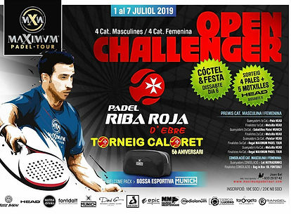 CARTELL CALORET 2019 - MAXIMUM PADEL TOU