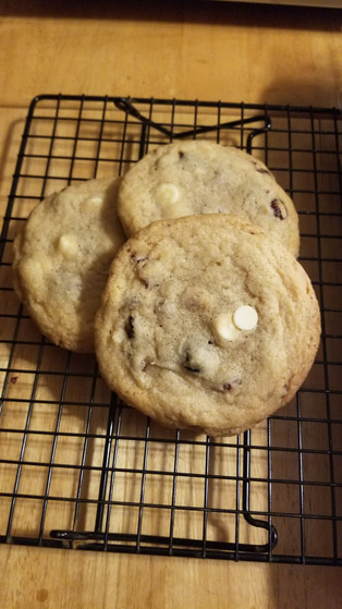 White chocolate craisin Big ol' Cookies