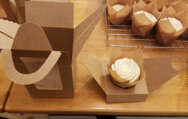 Vanilla cupcake with vanilla frosting