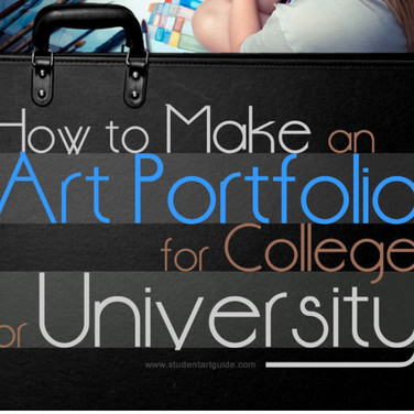 GREAT ADVICE FOR MAKING YOUR ART PORTFOLIO