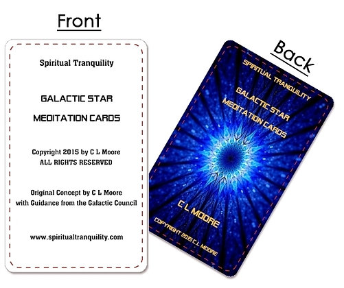 Galactic Star Meditation Cards