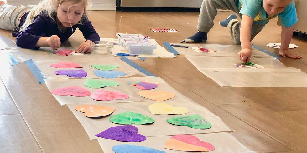 Toddler Art Playgroup, Tuesday, February 12th - Valentine's Theme!  (1)