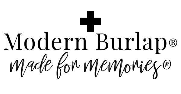 silver modern burlap logo