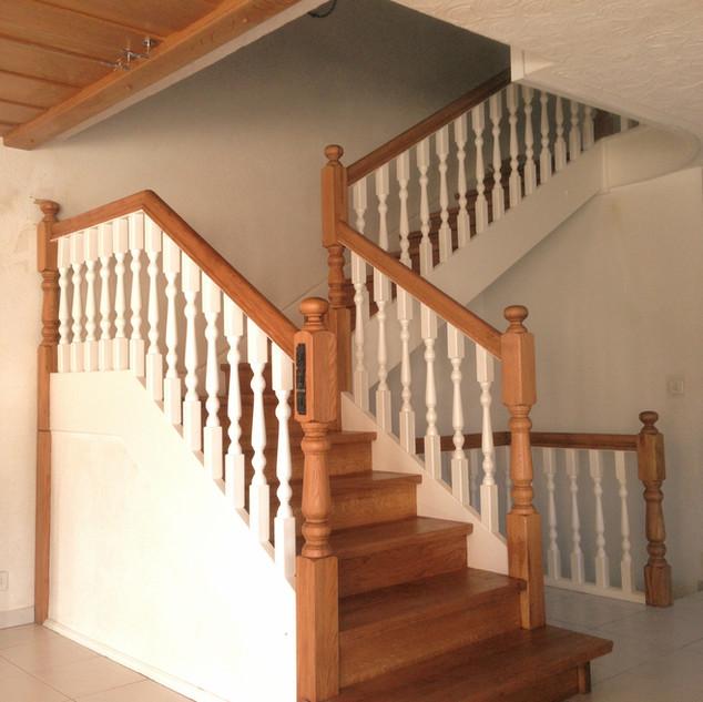 Escaliers classique en double teine