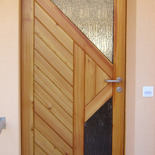 Porte en bois - finition