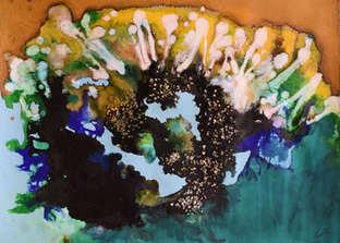 christine-jolly-christinejolly-art-paris-artiste-peintre-dessin-spiritualité-Spores bourgeonnants