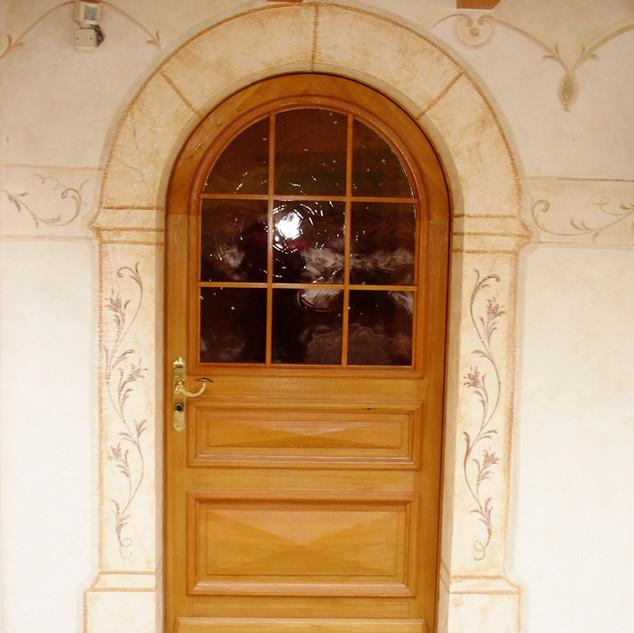 Porte en bois - réalisée sur mesure