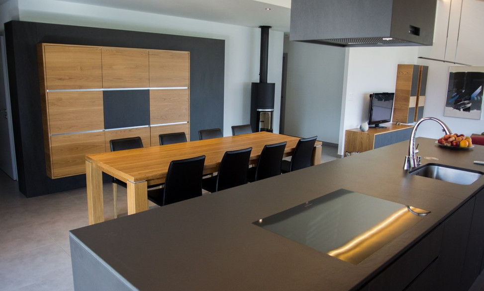 Amenagement intérieur, salle à manger - contemporain
