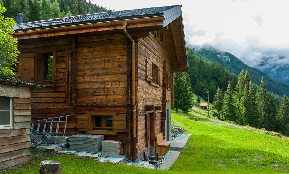 Rénovation chalet bois, dixence, Valais - Menuiserie Suisse