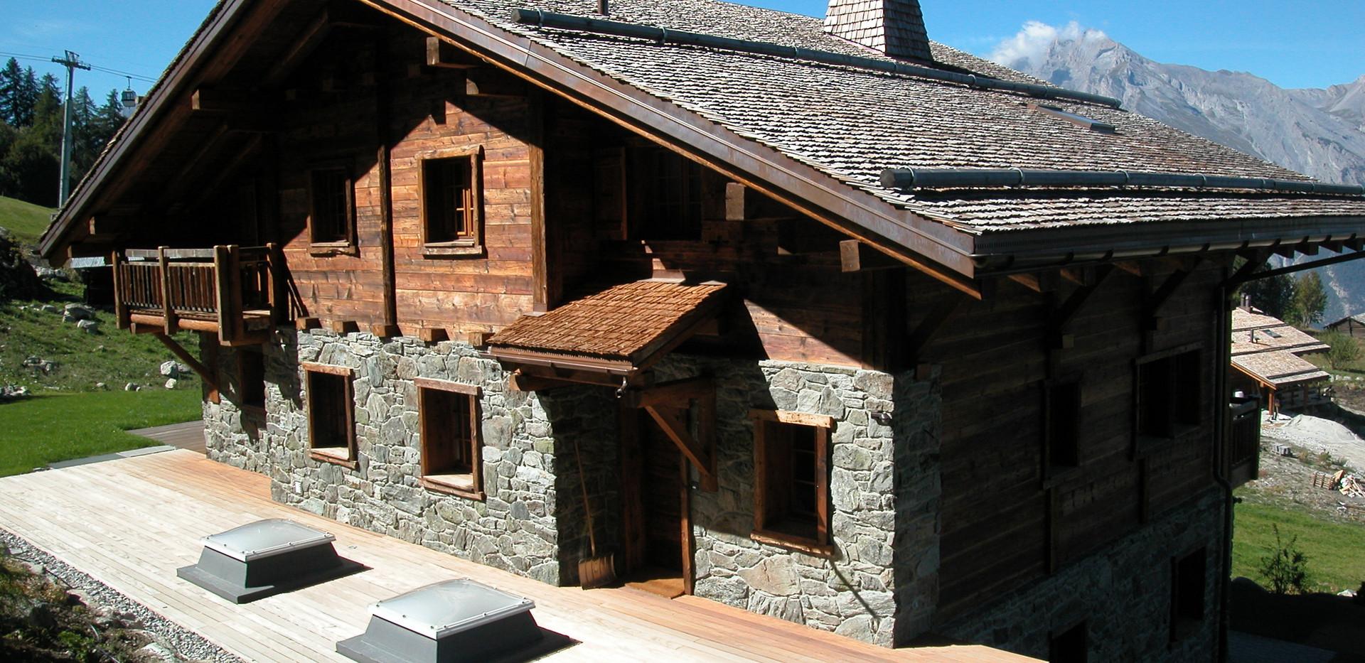 Construction générale - Maison bois et pierres