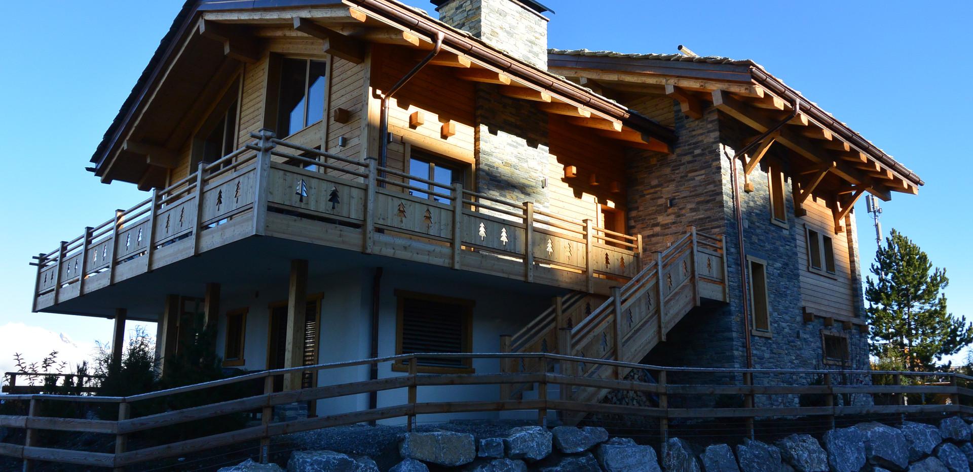 Construction Villa en Bois et pierres
