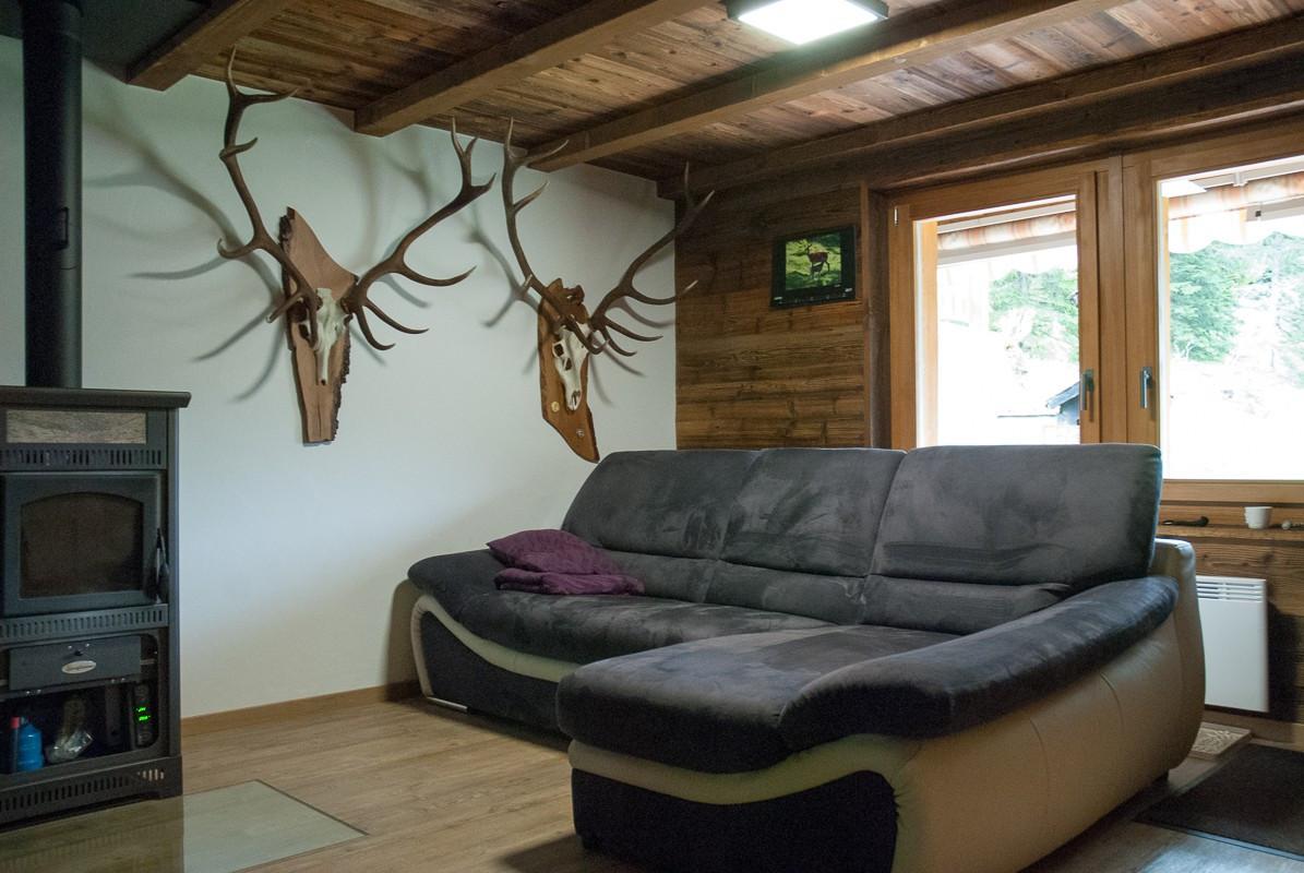 Rénovation chalet de montagne, salon - Relooking total