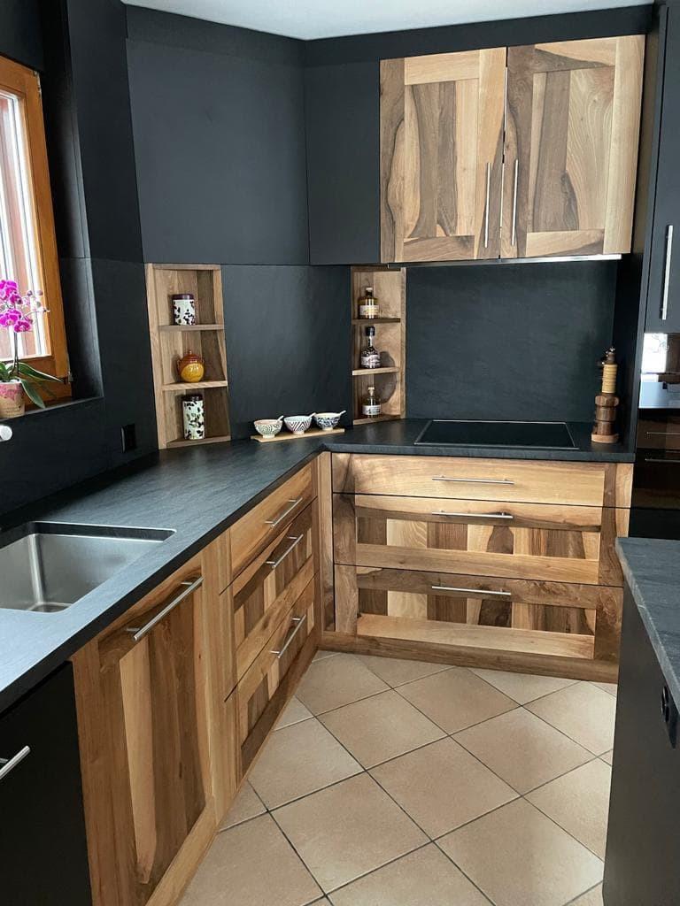 Rénover cuisine en Valais - menuiserie Glassey Fournier