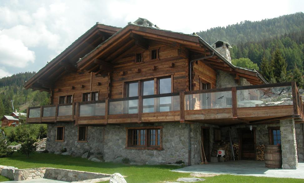 Agrandissement Chalet - Menuiserie Valais, Suisse