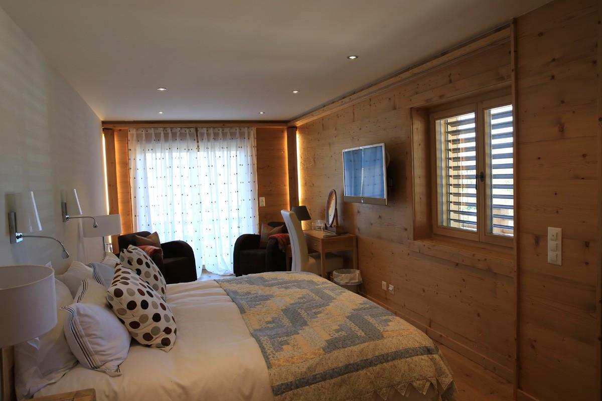 Agencement Chalet bois contemporain, Nendaz, chambre