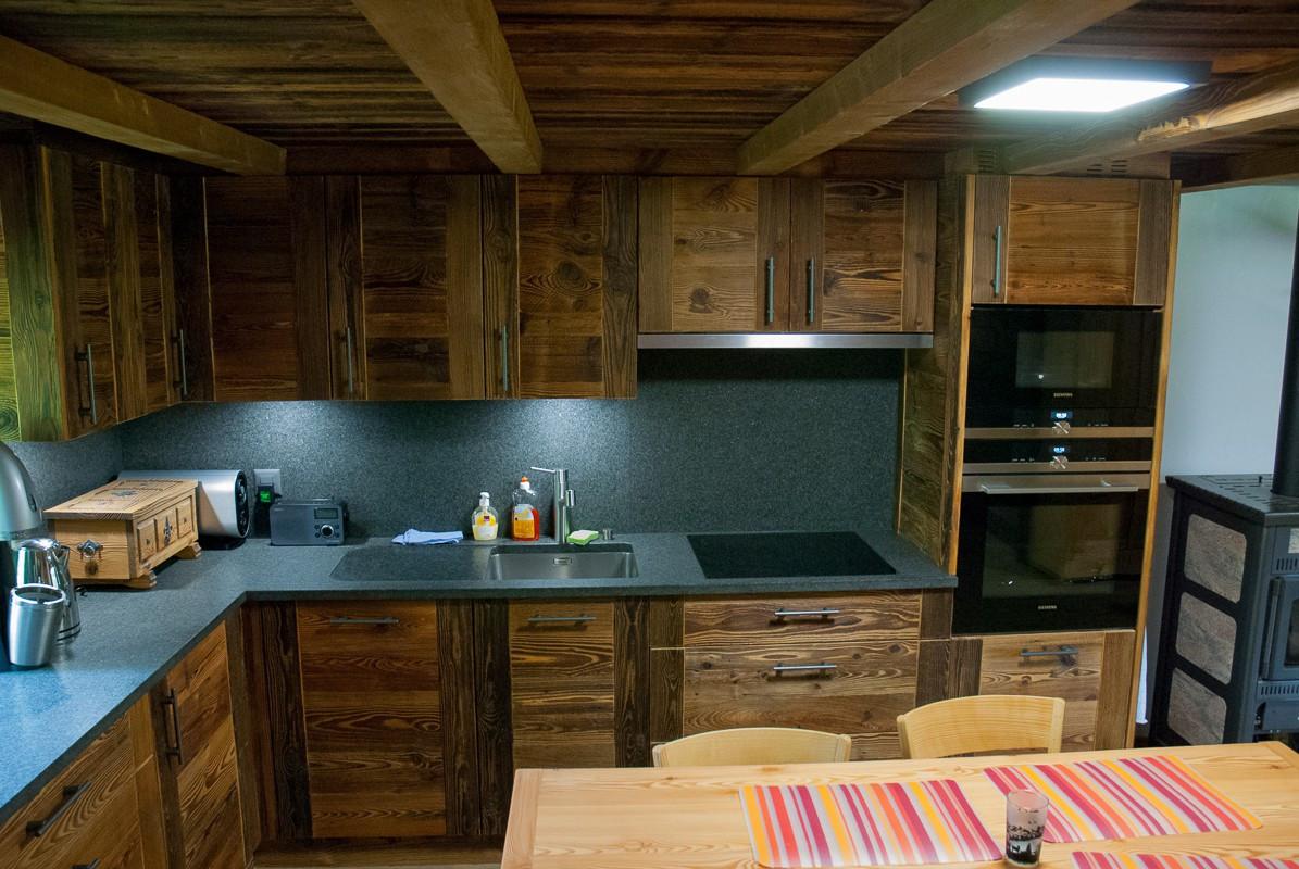 Rénovation chalet de montagne, cuisine - Relooking total
