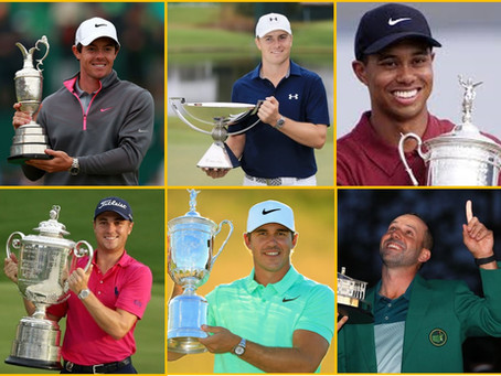 高球數據:年度四大賽事 (Major Golf Championships) 數據的啟示