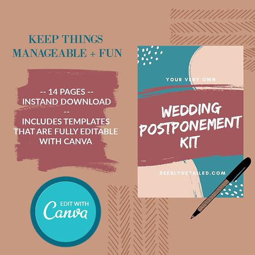 Wedding Postponement Kit