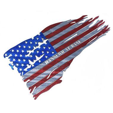 Distressed Metal US Flag