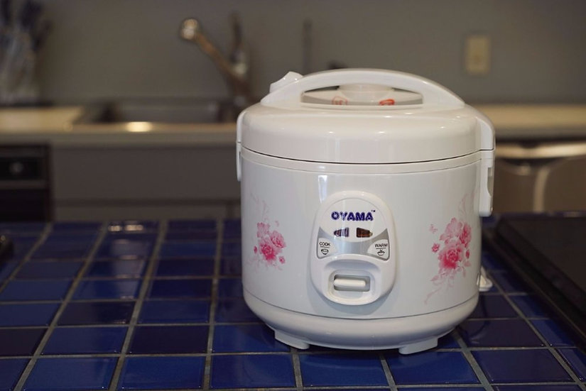 Premium rice cooker with non-stick inner pan - 6 cups (uncooked rice)
