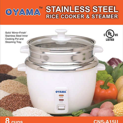 All stainless steel rice cooker - 8 cups (uncooked rice)