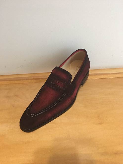Carrucci Red Suede Penny Loafer