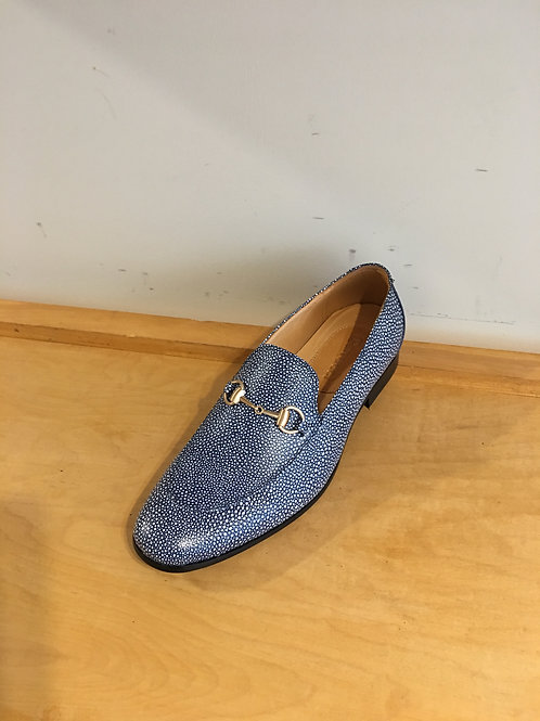 Blue Textured Stingray Loafer