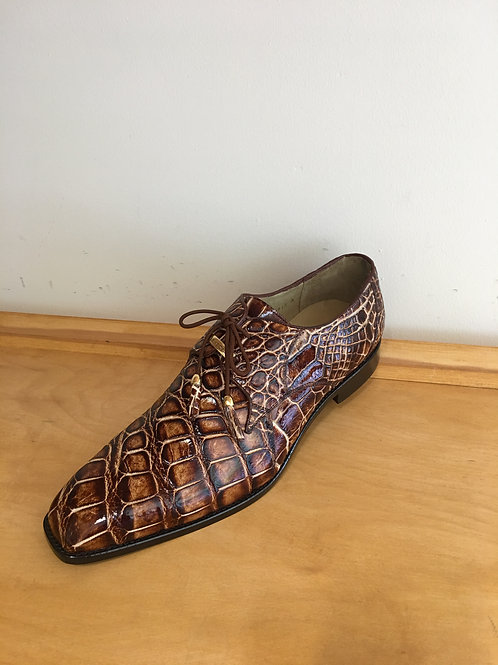 Belvedere Caramel Alligator Oxford