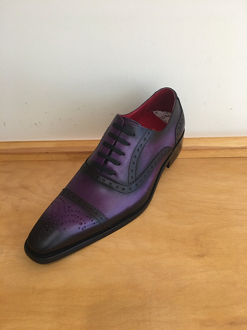 Aurelio Garcia Purple CapToe Lace-Up